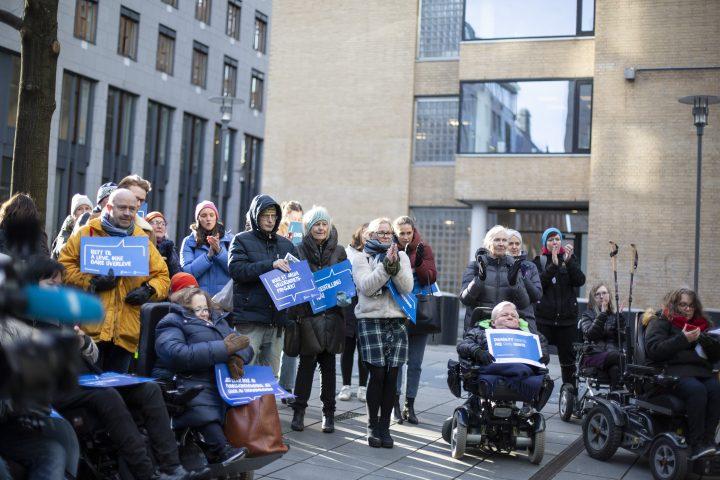 Fra aksjonen i Oslo